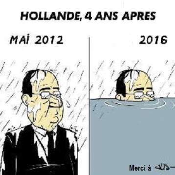 hollande président de la pluie fait naufrage?